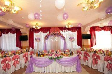 свадьба юбилей день рождения банкетный зал украшение ресторан кафе гелиевые шары цветы флористика